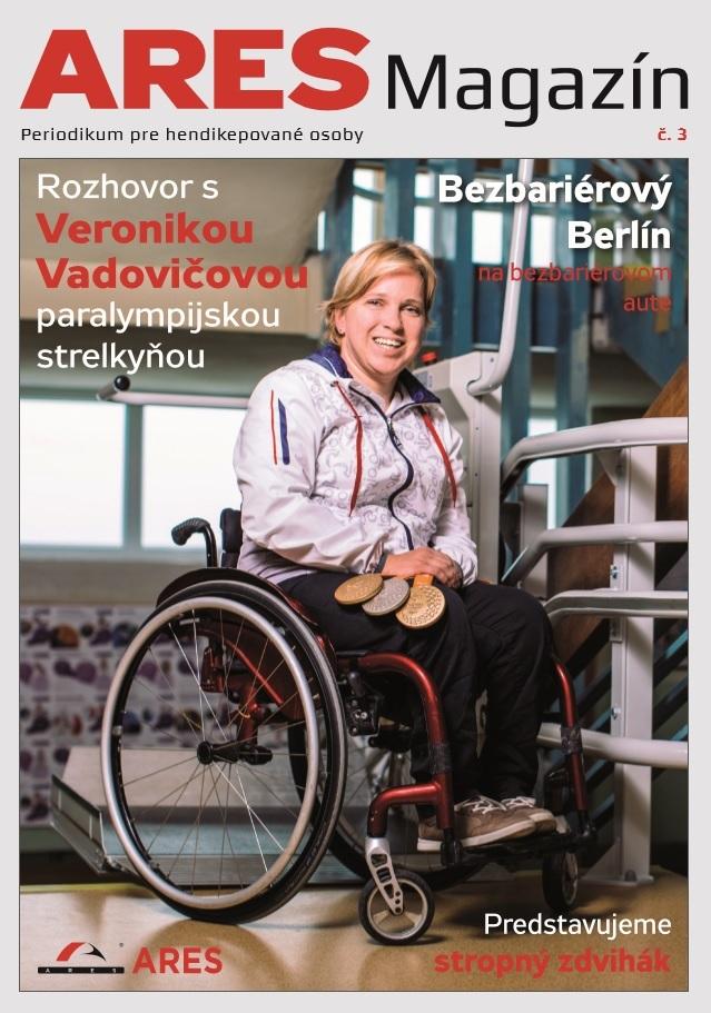 Titulka ARES Magazínu č. 3 - Veronika Vadovičová