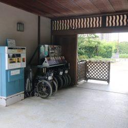 Pripravené vozíky pre návštevníkov v parku