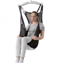 Zdvíhací Vak pre podporu celého tela a hlavy. Sieť môže ostať na invalidnom vozíku.