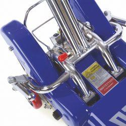 Sklopené dorazy na kolesá invalidného vozíka
