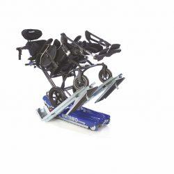 Podporné rampy pre mechanické vozíky. Naklonený vozík