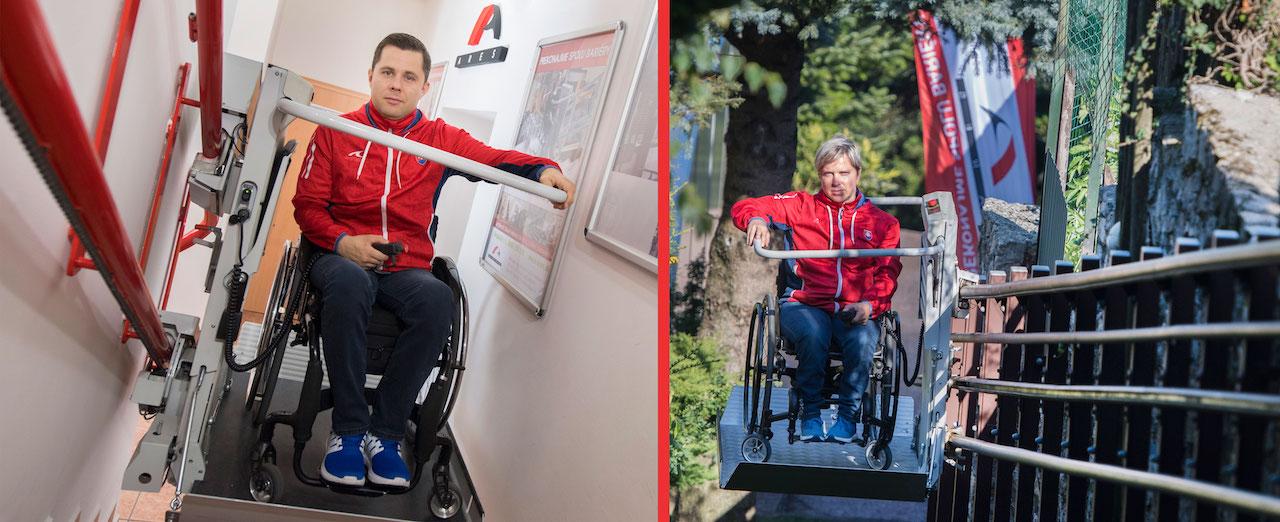 Radoslav Malenovský a Veronika Vadovičová na schodiskovej plošine od ARESu