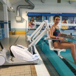 Bazénový zdvihák do vody pre ZŤP | i-Swim 2