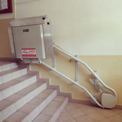 Montáž šikmej schodiskovej plošiny, Ružomberok