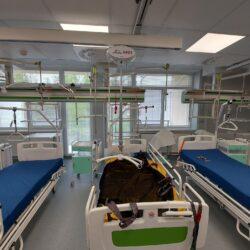 Montáž stropných zdvihákov v Kysuckej nemocnici v Čadcii